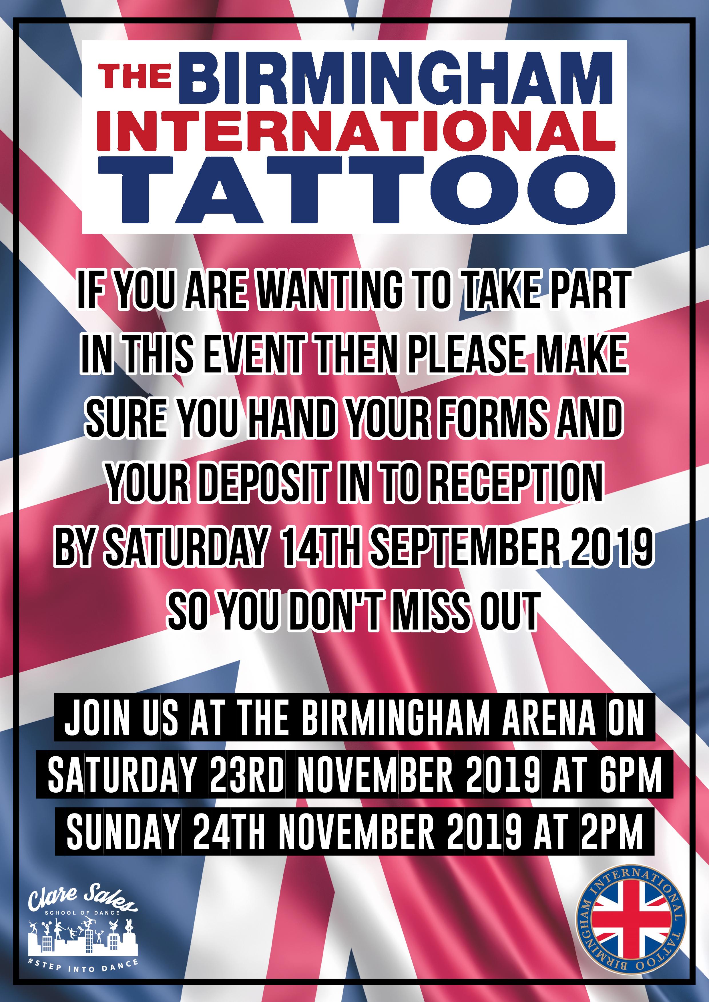 Birmingham Tattoo 2019
