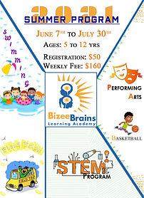 Summer Program flyer (20201- Bizee Brain