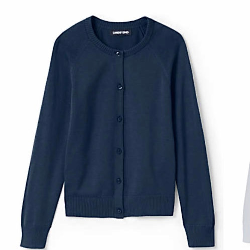 Girls Performance Button-Front Cardigan
