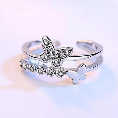 Bague Papillons Argent