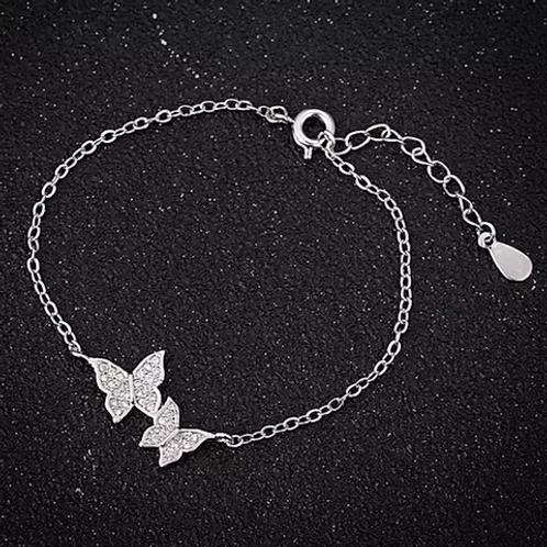 Bracelet Papillons Argent