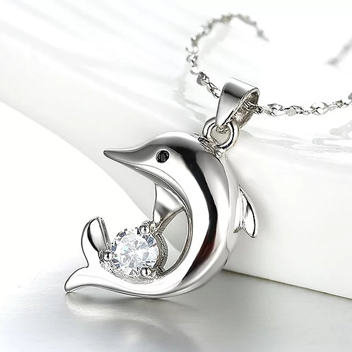 Collier Dolphin Argent