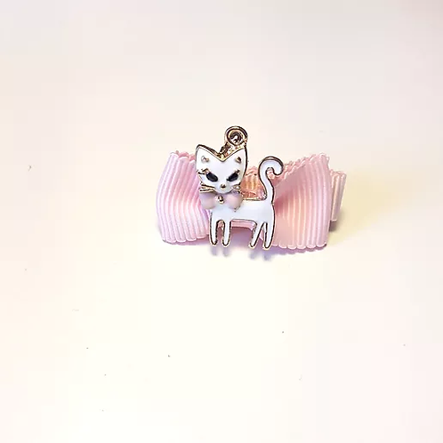 Barrette rose Chat mignon