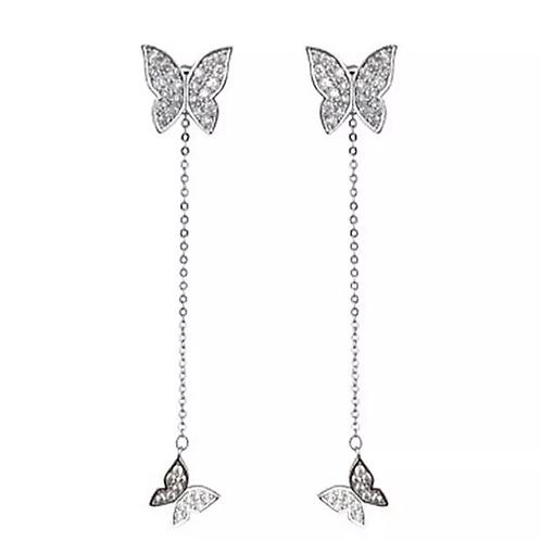 Boucles d'oreilles pendantes Papillons