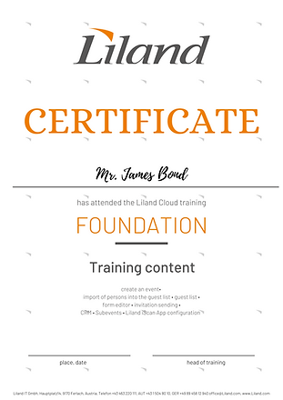 Liland_Certificate