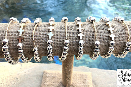 """Hematite Stone"" Bracelets"