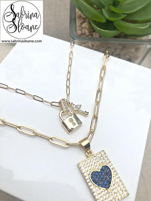 """Mini Lock and Key"" Necklace"
