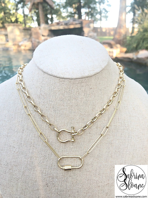 """""""Shackle Clasp"""" or """"Purely Simple"""" Necklace"""