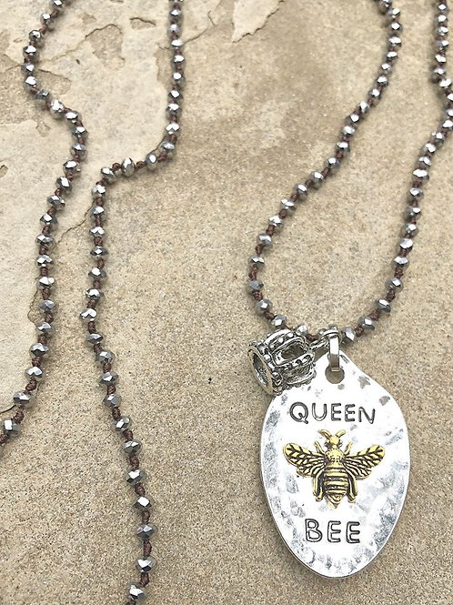 """Queen Bee"" Charm Necklace"