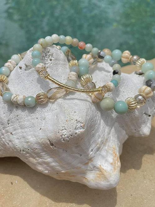 """""""Beach Vibes"""" Bracelet Trio"""
