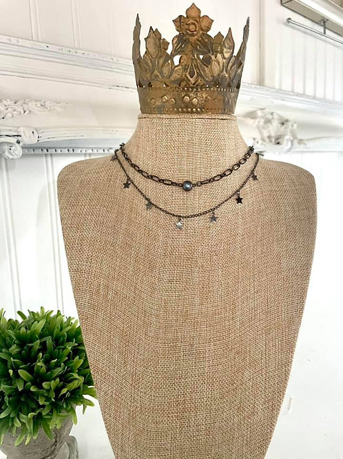 """""""Black Freshwater Pearl"""" Necklace"""