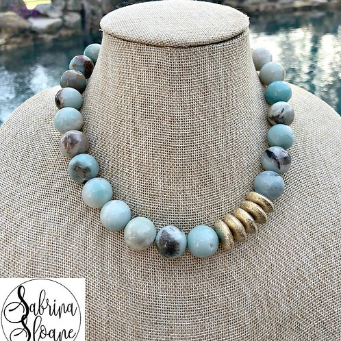 """""""Amazonite Gemstone"""" Necklace"""