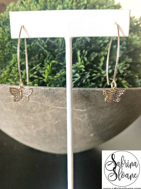 """Butterfly"" Earrings"