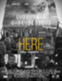 Official Poster for HERE - A SHort Film by Daniel Ademinokan