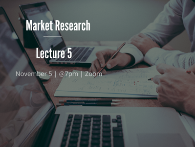 EUMAS Lecture 5: Market Research
