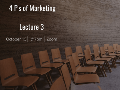 EUMAS Lecture 3: The Four P's