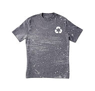 Grungy Grå Print T-shirt