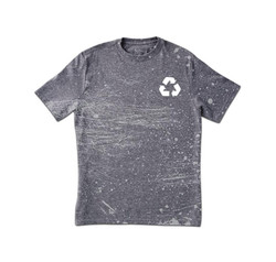 Grungy Grey Print T-Shirt