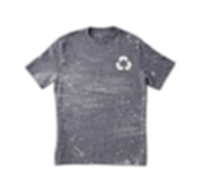 Grungy Grey Print T-Shirt