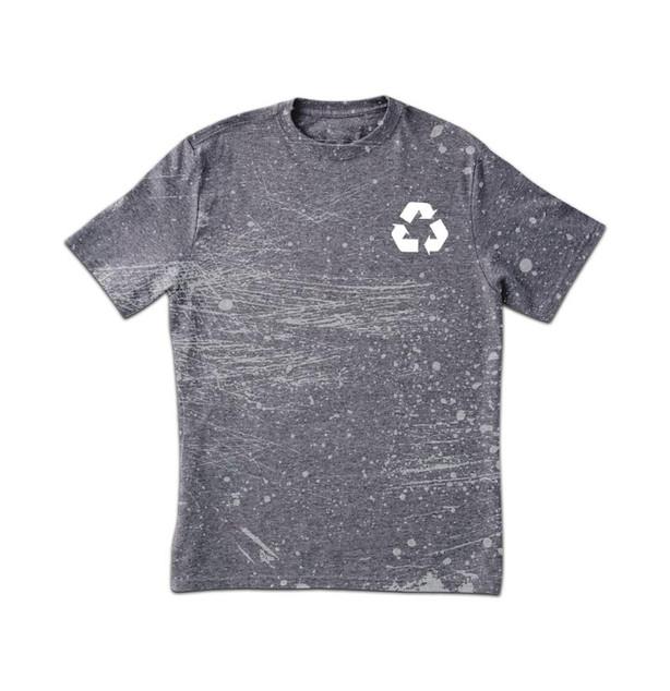 T-shirt sujo Imprimir cinzas