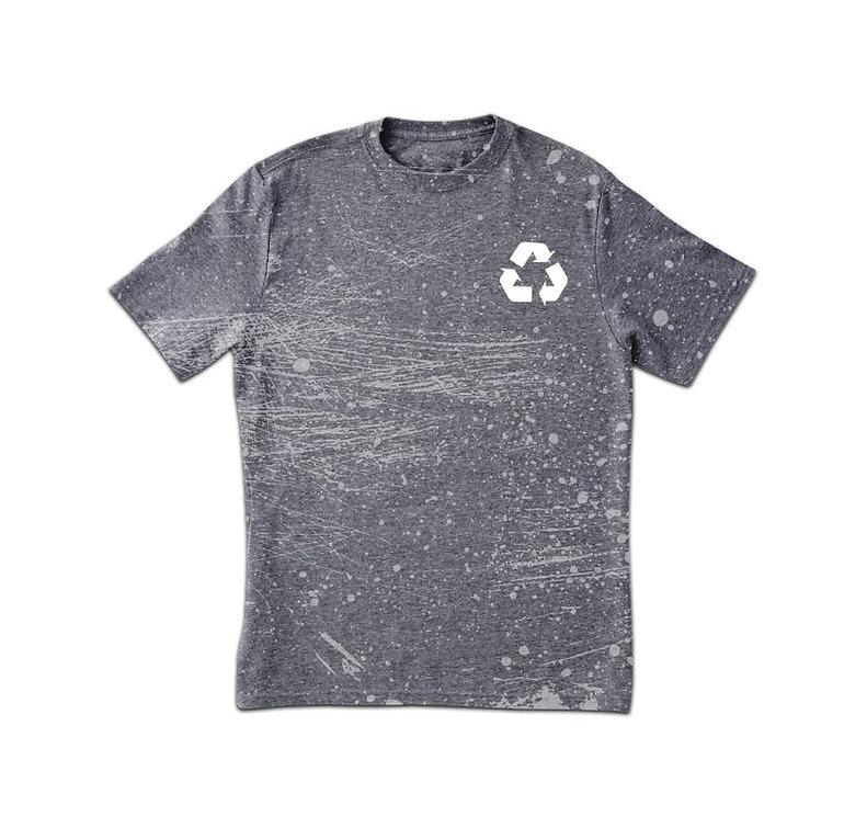 Grungy gris T-shirt imprimé