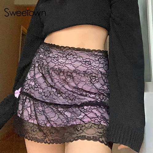 Lace Gothic Vintage Skirt
