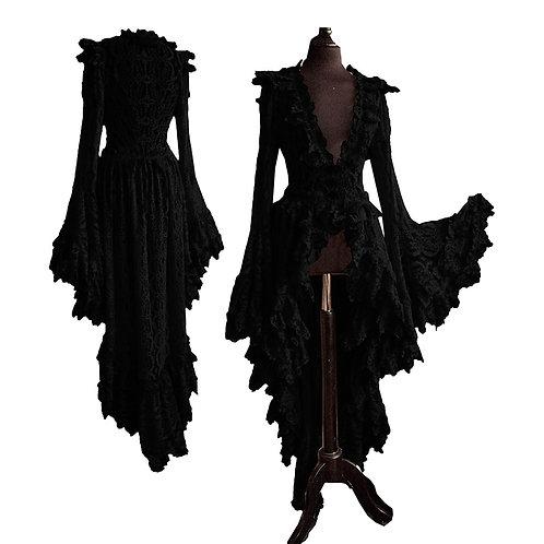 Lace Ruffle Flare Dress