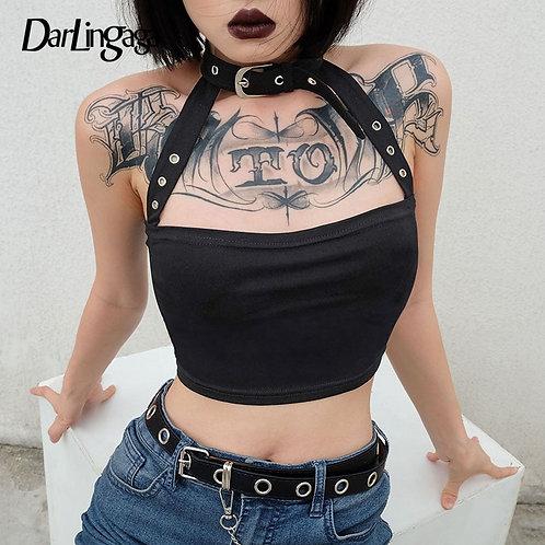 Darlingaga Punk Choker Halter Top