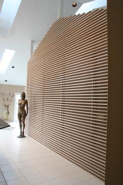 Custom White Oak wall