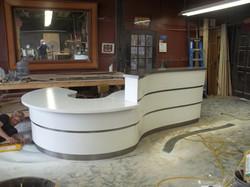 Reception desk for clinc