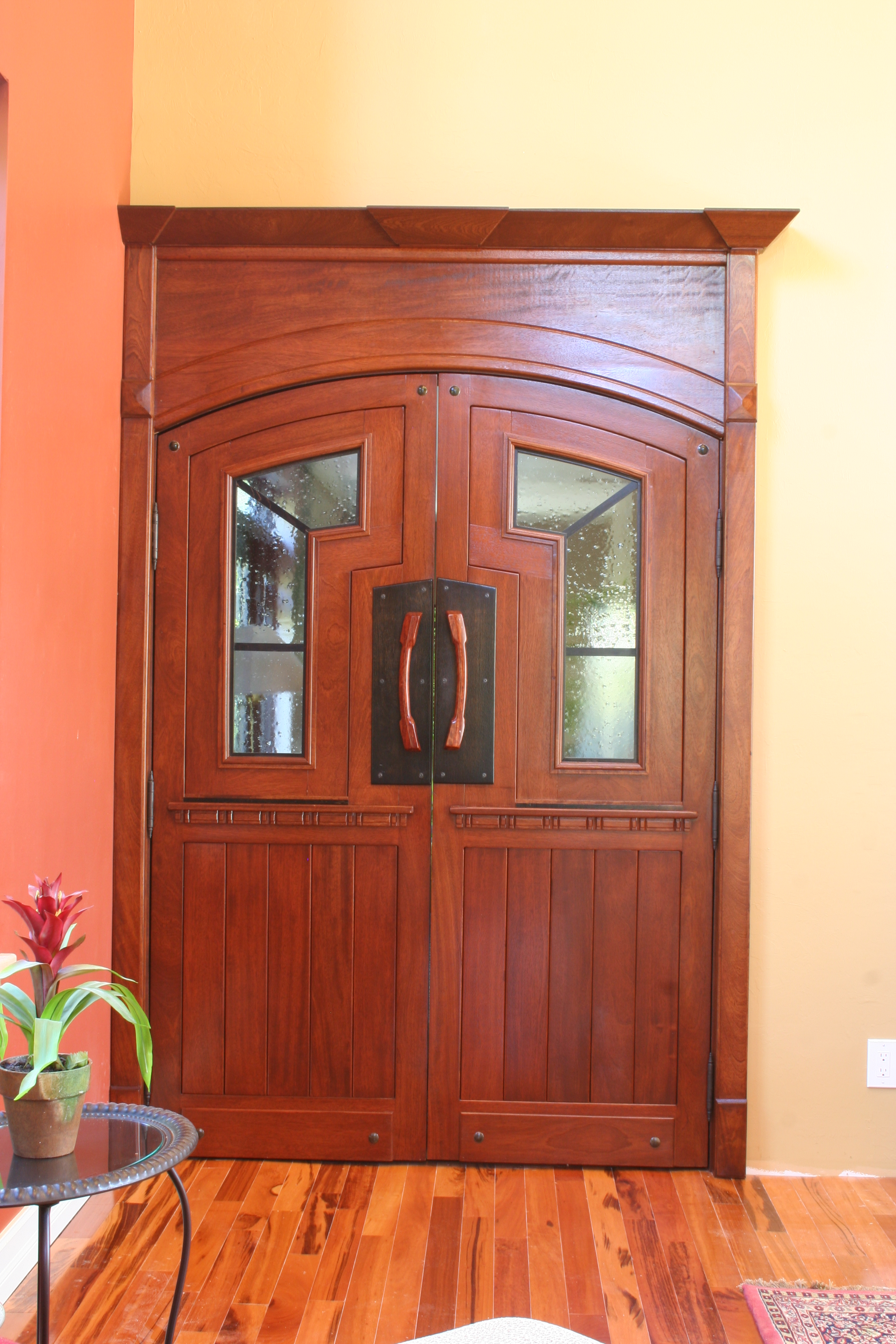 Brazilian Cherry custom doors