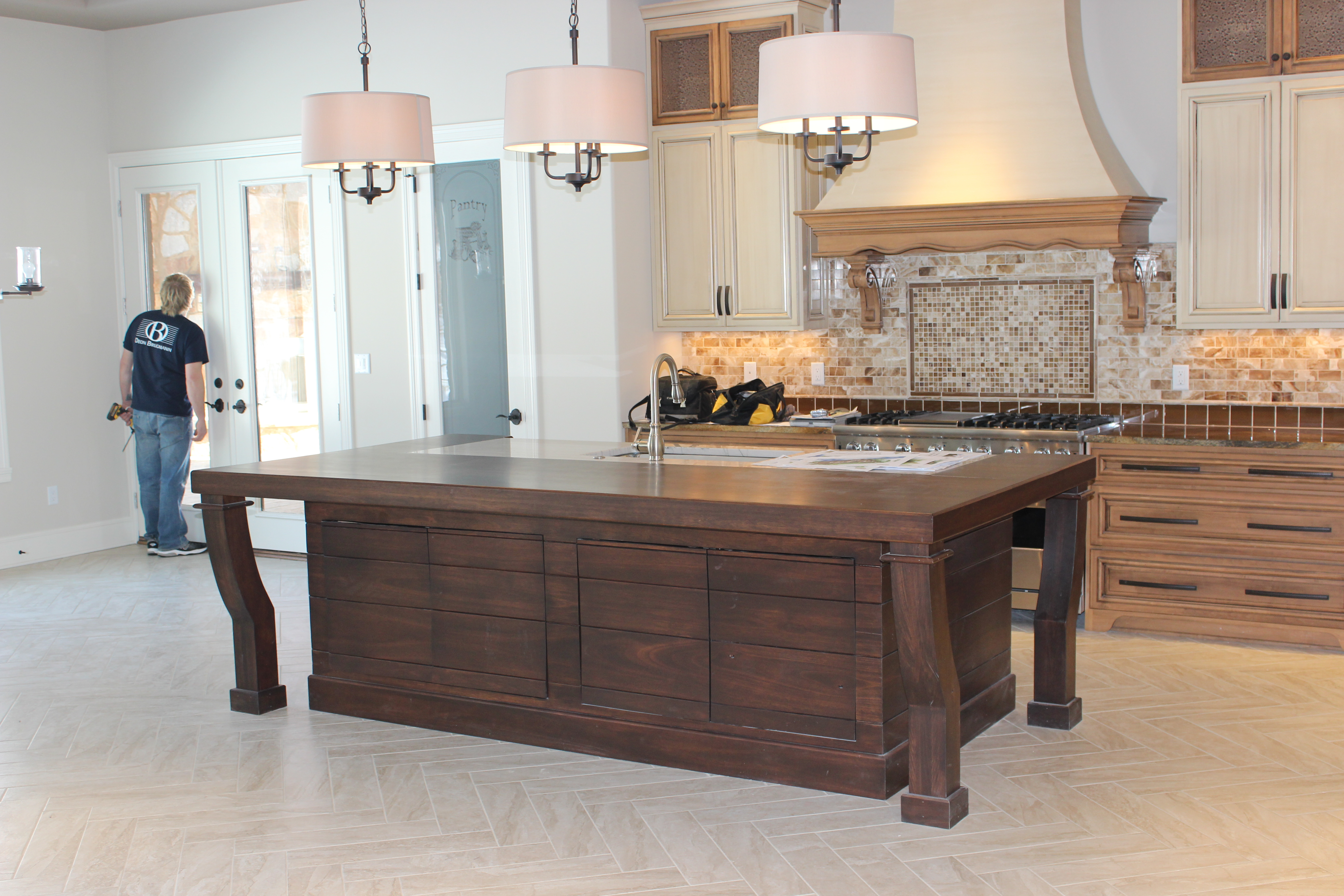 Lyptus custom kitchen island