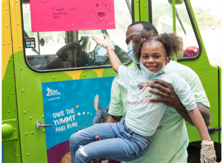 7 Year Old Actress Provided Free Ice Cream & Smiles To Over 200 Nurses & Doctors In Houston!