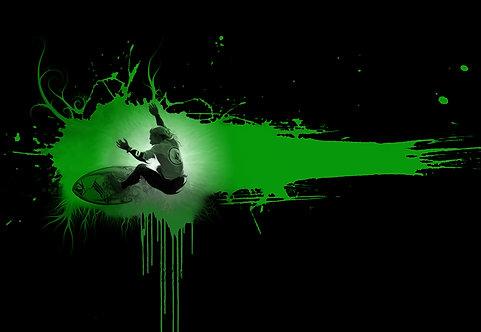 Surfer in Green