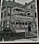 Charcoal Drawing of the Hatfield McCoy House