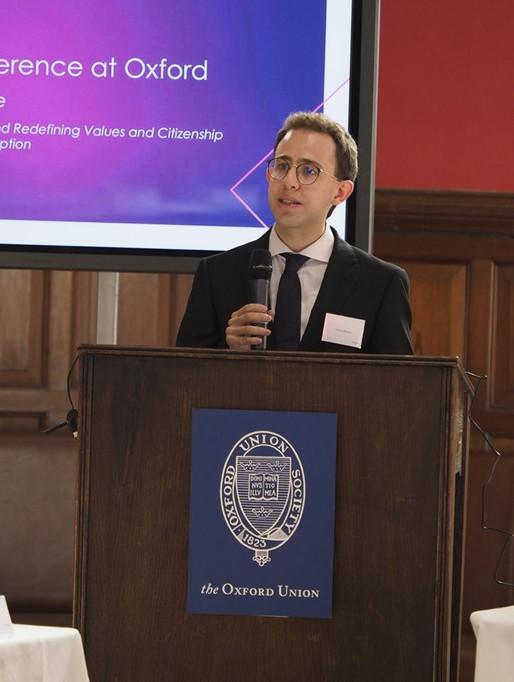 Carlos Blanco en Oxford durante las conferencias Altius