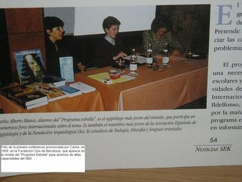 Conferencia de Carlos Blanco en 1998 en la Fundación Arqueológica Clos de Barcelona