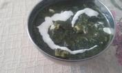 Receita de Palak Paneer, creme de espinafre e queijo branco