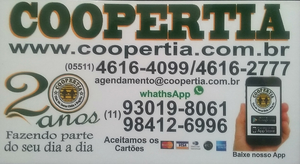 Cartão de visita com telefones radio-taxi