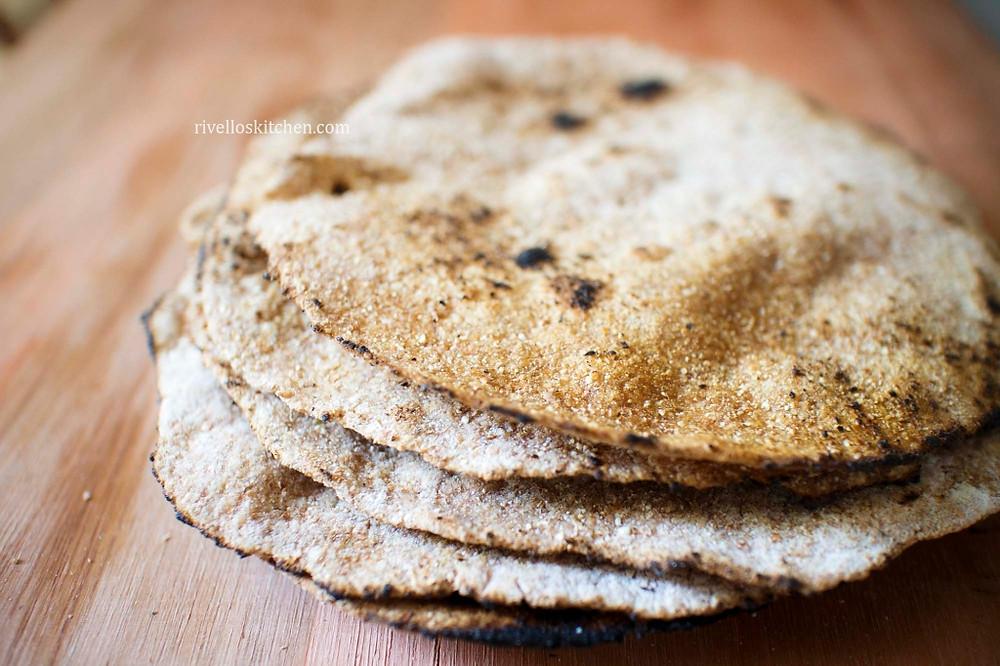 Pães Chapati empilhados
