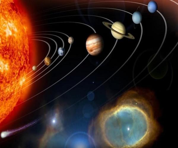 gráfico do sistema solar