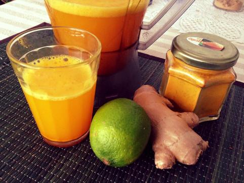Receita fácil de suco de Açafrão com Limão