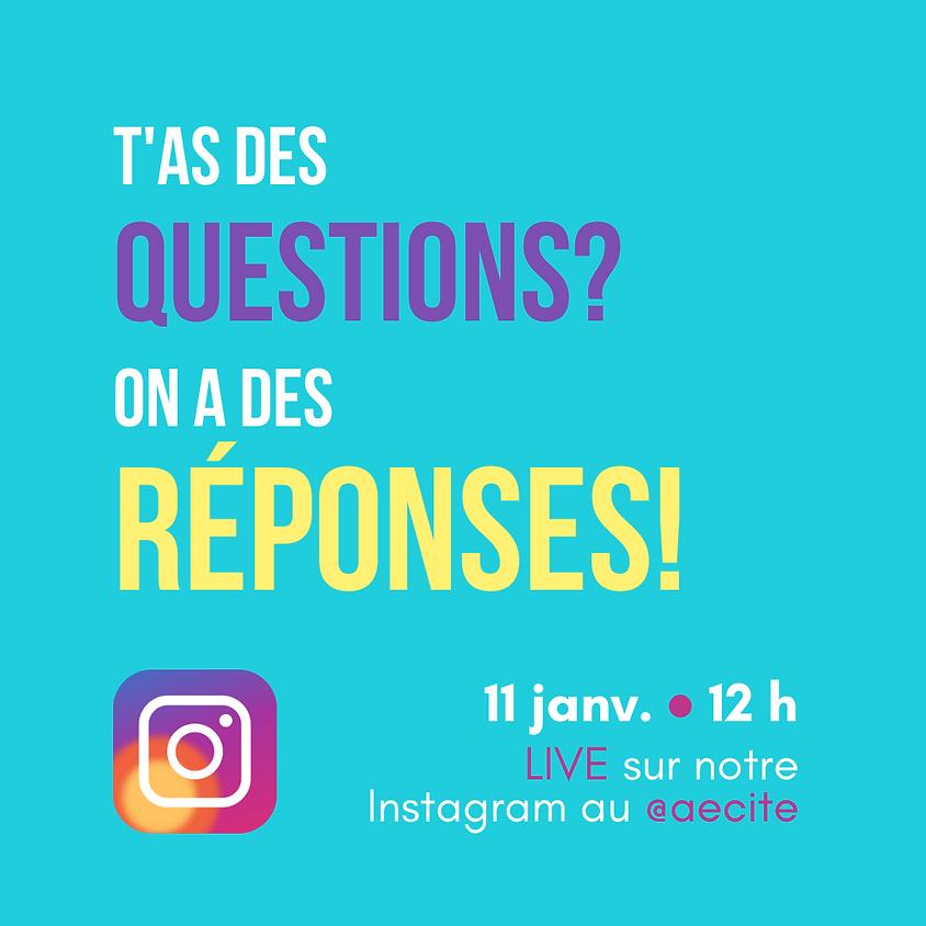 On répond à vos questions!