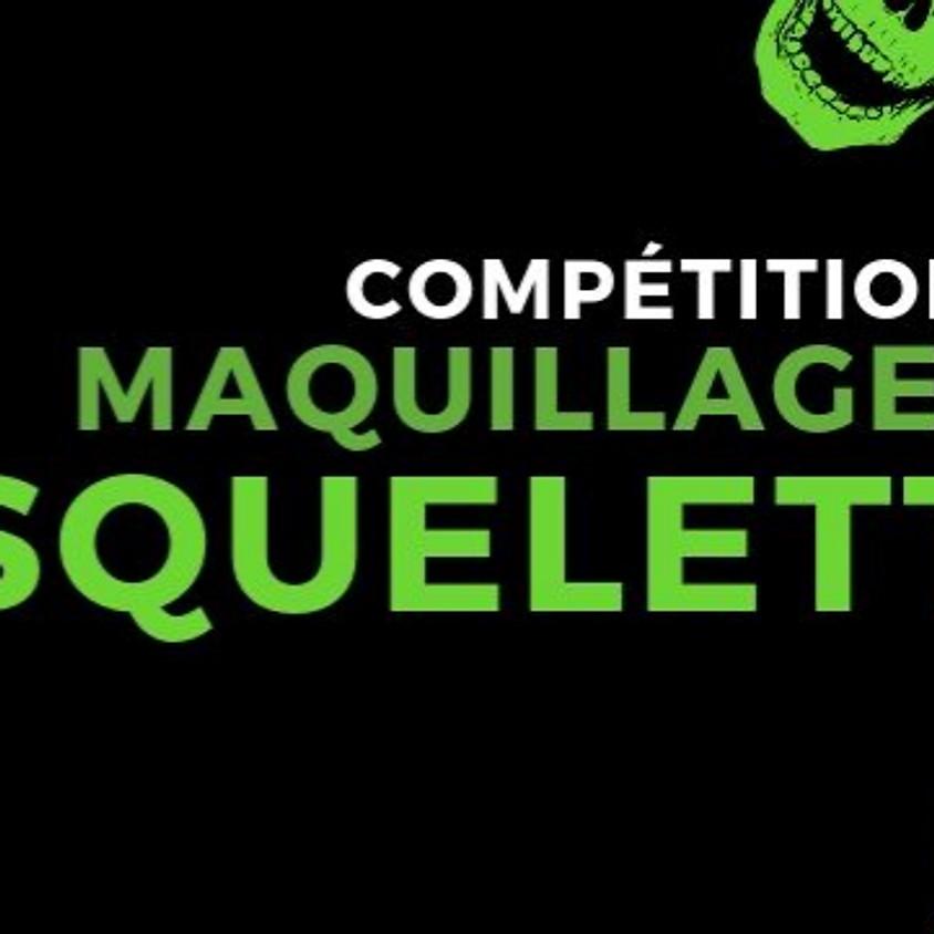 Compétition de maquillage squelette