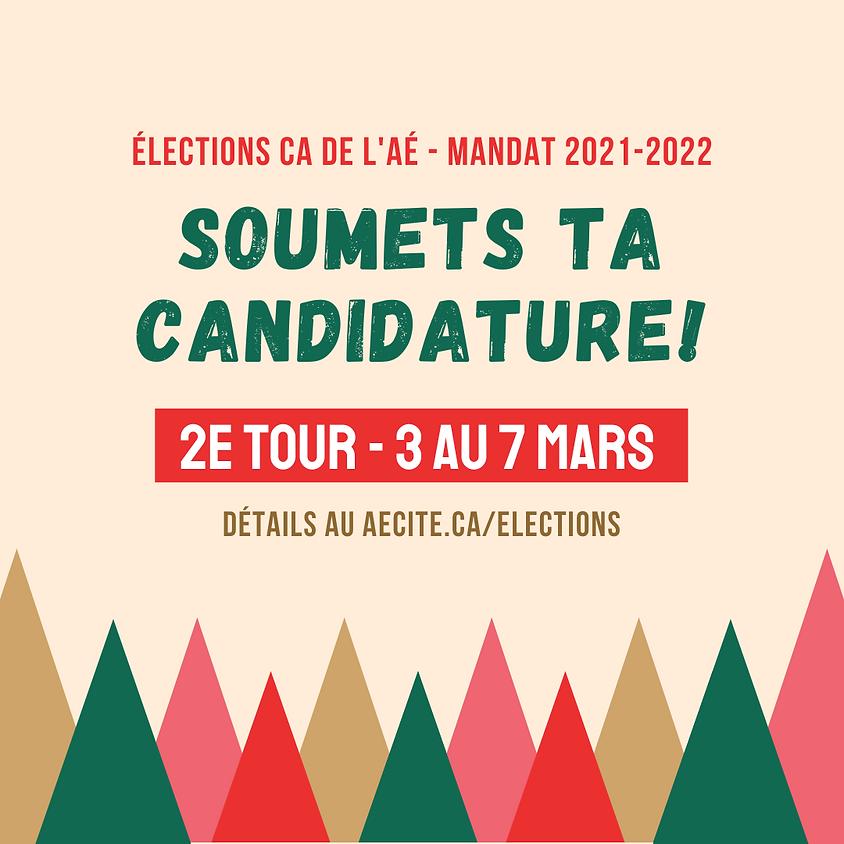 2e tour - Élections de l'AÉ