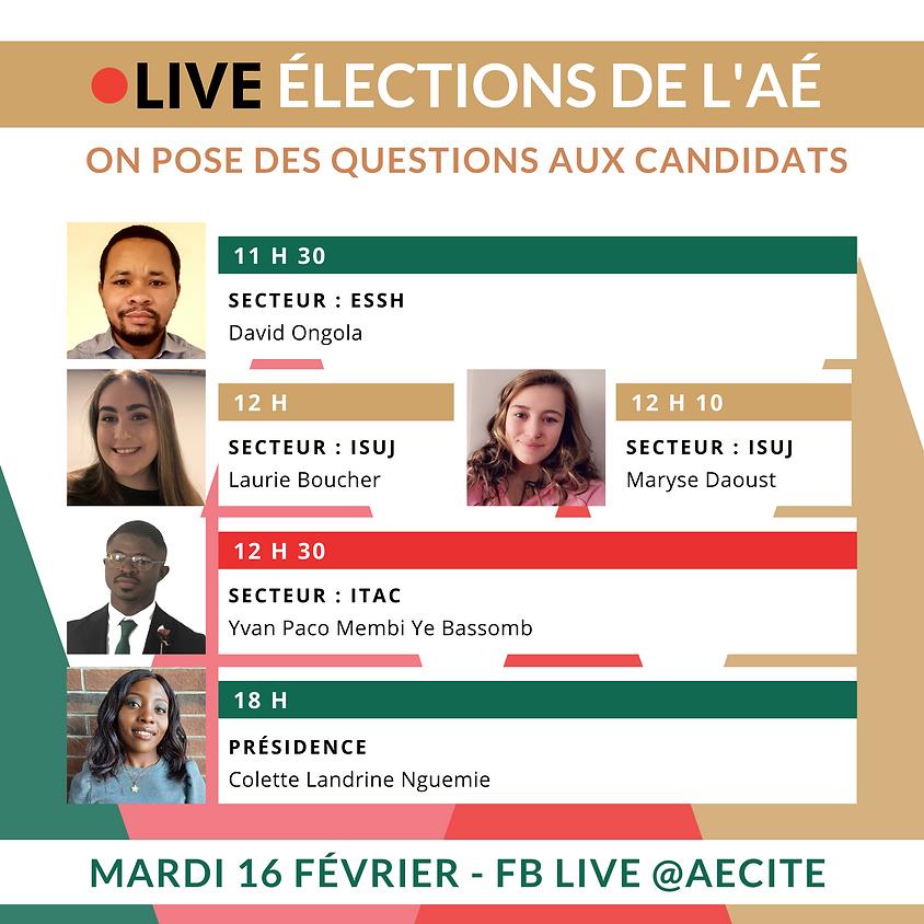 LIVE élections de l'AÉ