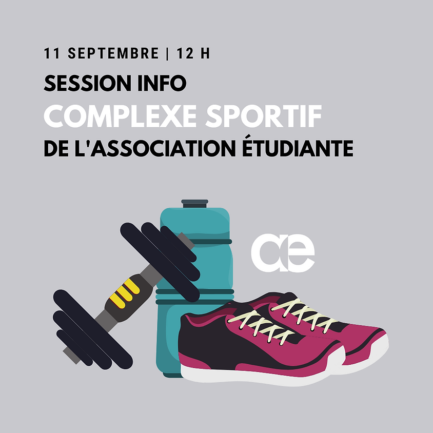 Session info - Complexe sportif