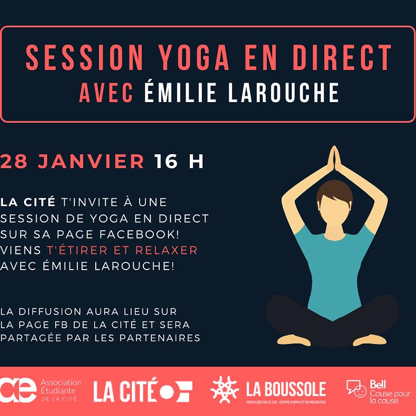 Santé mentale - Session de Yoga en direct