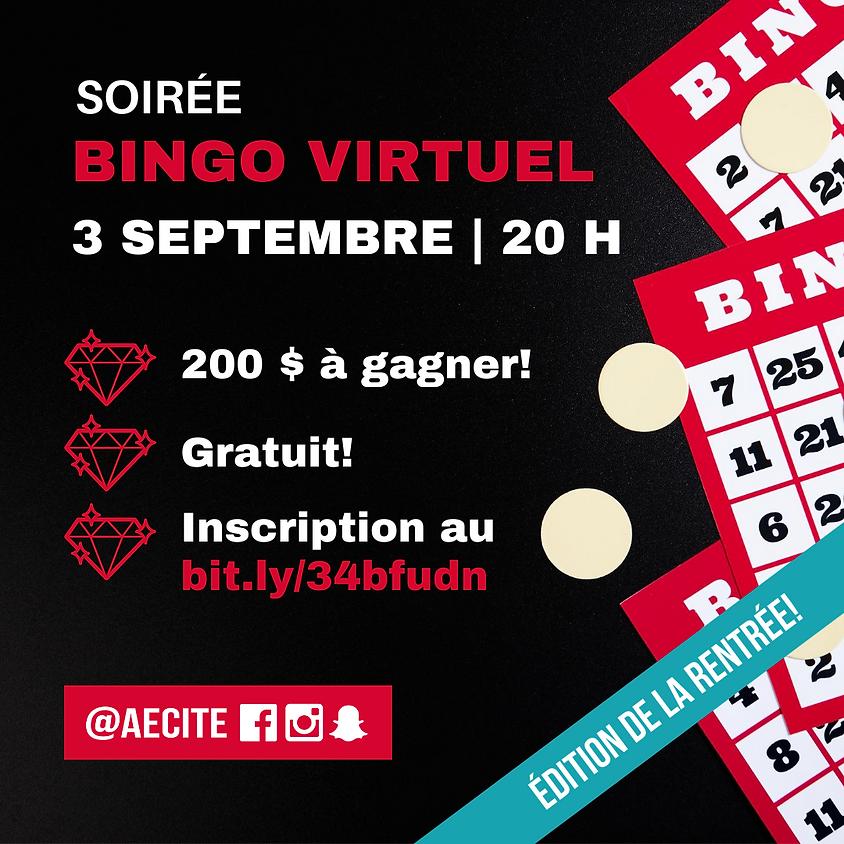 Pour étudiants de 1re étape - Bingo virtuel