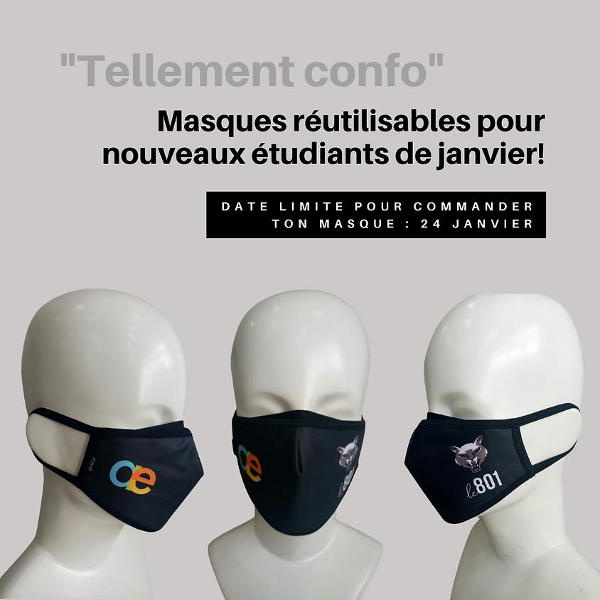 Masques réutilisables de l'AÉ